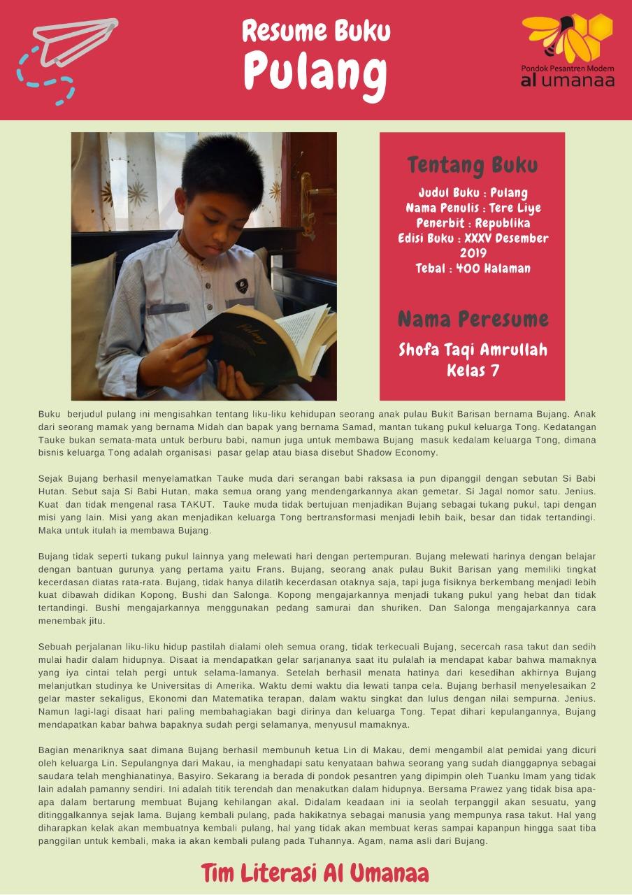 Resume Buku: Pulang